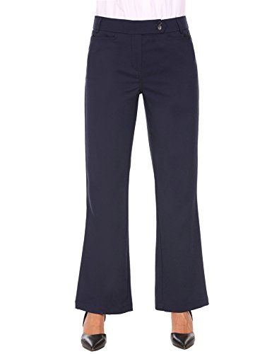 - keliqq Women's High Waist Boot-Cut Dress Pants Long Trousers