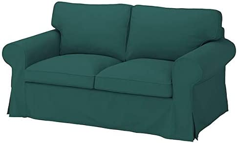 IKEA UPPLAND Loveseat Cover Dark Turquoise 2-seat Sofa Slipcover 2 Seater Couch