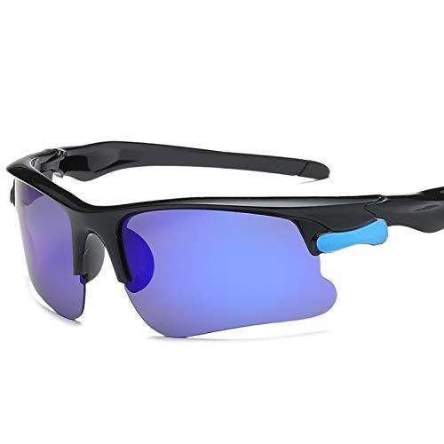 ライディンググラス メンズ 偏光サングラス アウトドアスポーツサングラス 山登り 運転 釣り  ブラックフレーム B07GR6QY7N