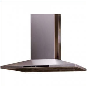 Yosemite MIPH36S-4H Contemporary Series 36inch Island Hood with 600 CFM and Halogen Lighting in Stainless Steel