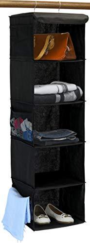 Simple Houseware 5 Shelves Hanging Closet Organizer, Black