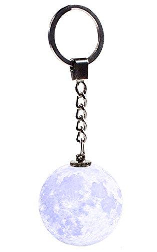 Moon Light Key Chain Pendant - Safety Night Light for Men, Women, Kids, Girls, Boys - Moon Key