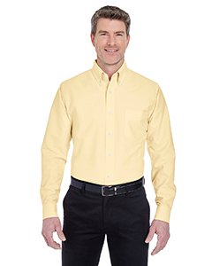 - UltraClub� Men's Classic Wrinkle-Free Long-Sleeve Oxford (Butter) (Large)