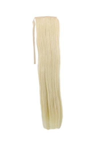 Haarteil, Zopf schmal Seitenzopf Cosplay Blond, Hellblond glatt 18