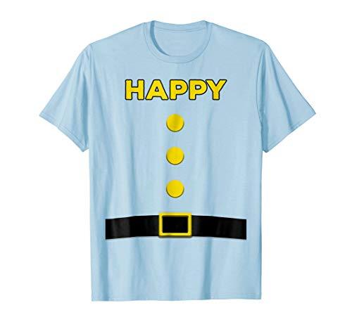 Happy Dwarf Halloween Costume Blue Shirt