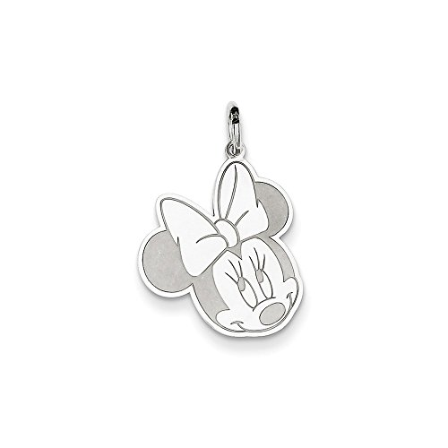Sterling Silver Mouse Charm - Disney Minnie Mouse Charm In 925 Sterling Silver 24x15mm
