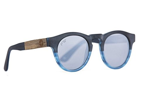 Proof Eyewear Unisex Banks Blue Eco Wood Handcrafted Water Resistant Wooden - Quotes Sunglasses Blues Brothers