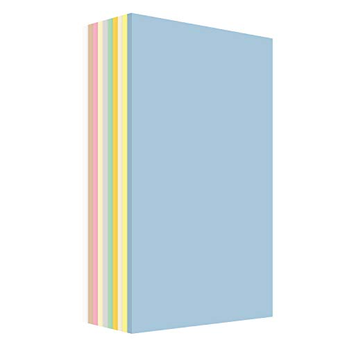 Pastel Color Paper 10 Assortment Colors of 25 Each, 67 Lb, Card Stock , 250 Sheets Per Pack (8.5-x-14-inch)