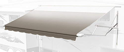 Carefree 8016LH00 Camel Fade/White Wrap 16' Universal Vinyl RV Patio Awning Replacement Canopy (Center arm to Center Arm) (Rv Awning Fabric Replacement compare prices)