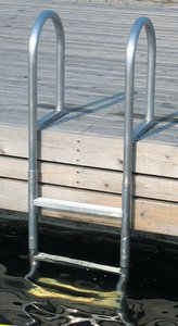 Dock Edge 3 -Step Fixed Welded Aluminum Dock Ladder 3 Step Dock Ladder