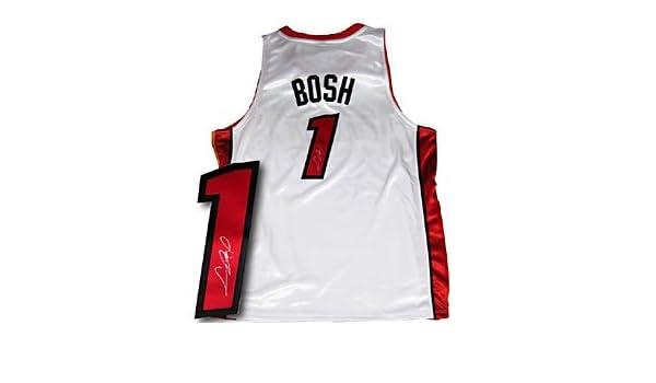 sale retailer 35d32 0f588 Chris Bosh Autographed Miami Heat Jersey at Amazon's Sports ...