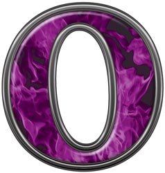 Amazon Com Reflective Letter O With Inferno Purple Flames