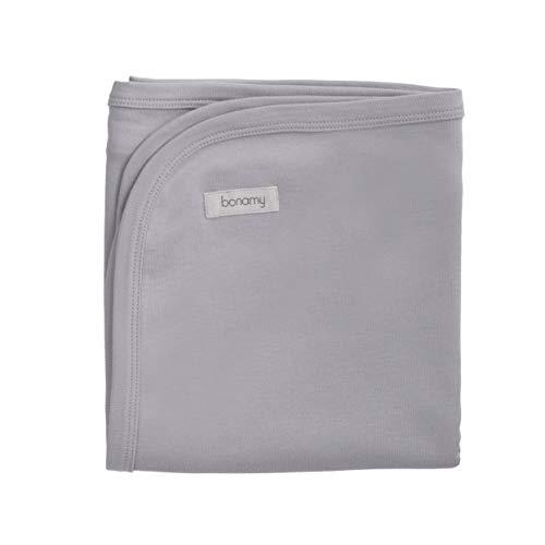 bonamy Baby Organic Cotton Swaddling Blanket, Grey ()