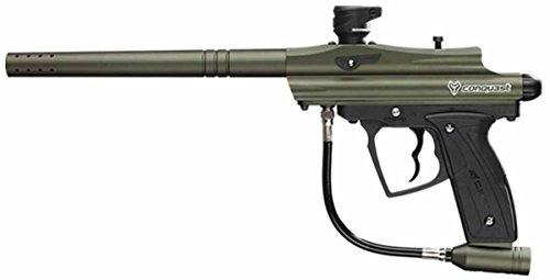D3FY Conqu3st Semi Auto Paintball Marker Gun with Barrel, Olive Drub