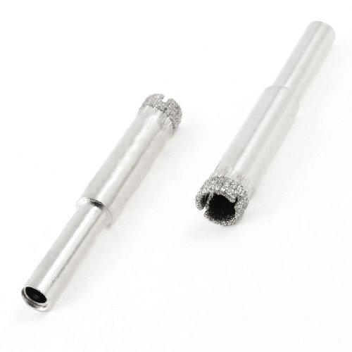 2Pcs Round Shank 8mm Dia Glass Tile Diamond Hole Saw Drilling Tool