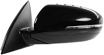 Mirror Power Folding Heated Signal Chrome Cap Left Driver for 12-13 Kia Optima