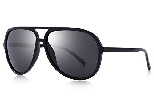 OLIEYE Polarized Sunglasses for Women Men Lighter Frame Vintage Pilot Sunglasses with Case O8510
