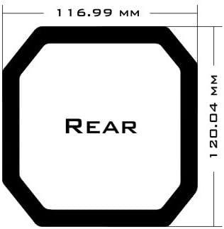 Black Frame//Black Mesh DEMCiflex Dust Filter for Corsair Carbide 300R Rear