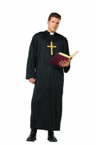 RG Costumes Priest, Black, One -
