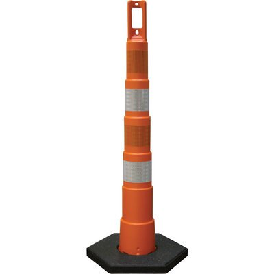 Plasticade Navicade Traffic Channelizing Cone - 4in. Engineer Grade Sheeting, Model# 650R1-O-4-EG-A