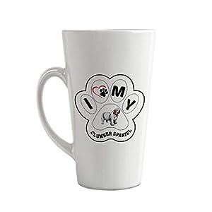 Ceramic Custom Latte Coffee Mug Cup I Paw My Clumber Spaniel Dog Tea Cup 12 Oz Design Only 33