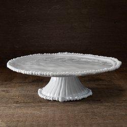 Beatriz Ball 2423 Alegria White Pedestal Cake Plate,
