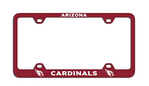 Cardinals Laser - NFL Arizona Cardinals Laser License Plate Frame, One Size, White
