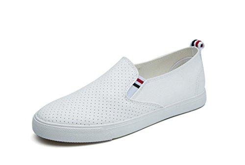 Nvxie Señora Diarias Blanco Pu De Compras Simple Zapatos Escuela Ocio Aumento Movimiento White Negro Estudiantes rrq4dPw