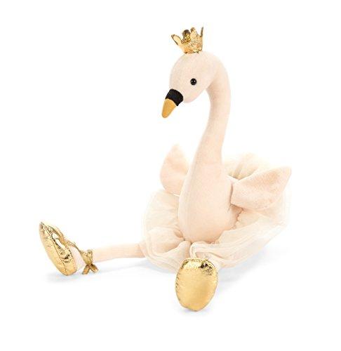 Jellycat Fancy Swan Stuffed Animal, 15 inches]()