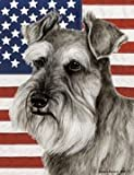 "Schnauzer Uncropped by Tamara Burnett Patriotic II House Dog Breed Flag 28"" x 40"" Review"