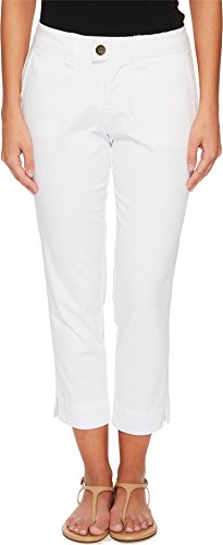 Twill Crop (Jag Jeans Petite Womens Petite Creston Ankle Crop In Bay Twill White 10P 24)