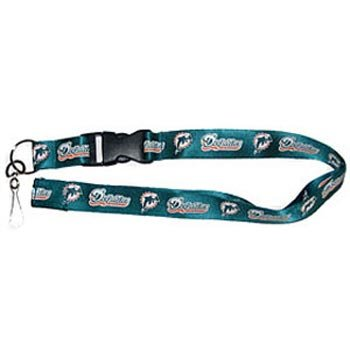 Miami Dolphins Breakaway Lanyard with Key Ring