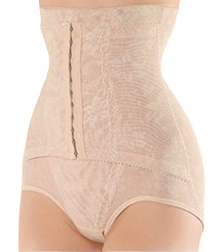 Sweet Cherry 750 Women Best Waist Cincher Girdle Belly Trainer Corset Body Shapewear (XL, Nude)