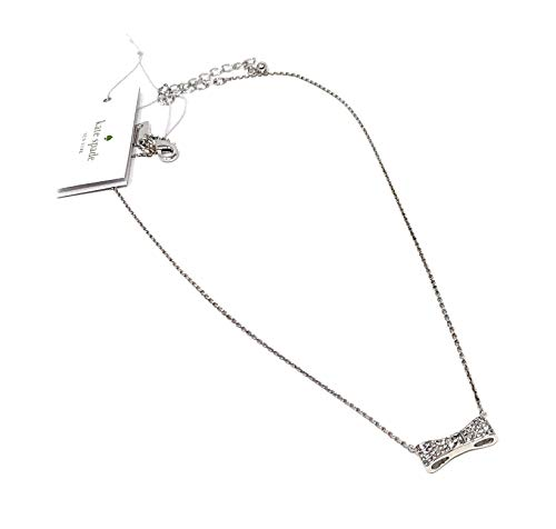 (Kate Spade New York Ready Set Bow Silver Plated Pendant Necklace)