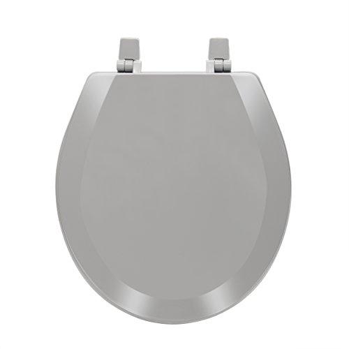 Achim Home Furnishings Fantasia 17 Inch Standard Wood Toilet Seat, Charcoal by Achim Home Furnishings