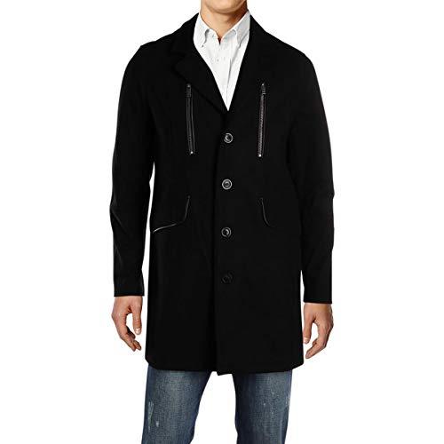 Karl Lagerfeld Paris Mens Winter Quilted Anorak Jacket Black XL
