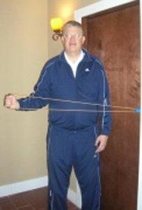 ShoulderFit™ Resistance Exerciser (Resistance Tube, Plastic Handle and Thera-Loop™ Door