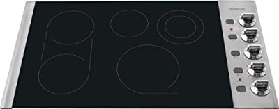 """Frigidaire FPEC3685K 36"""" Smoothtop Electric Cooktop with PowerPlus Boil and Fits-More Top from the Pr,"""