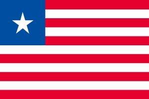 世界の国旗 リベリア 国旗 [100×150cm 高級テトロン製]   B0090ZSF26