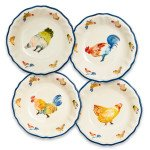 Sur La Table Jacques Pepin Collection Chickens Pasta Bowls, Set of 4 by Sur La Table (Image #3)