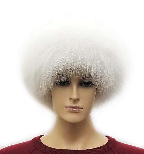 HIMA 100% Real Fox Fur Headband (White)