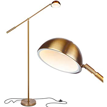 Dawson Modern Pharmacy Floor Lamp Antique Brass Adjustable