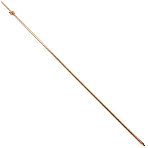 4' ft Foot Copper Coated Steel Ground Rod 3/8