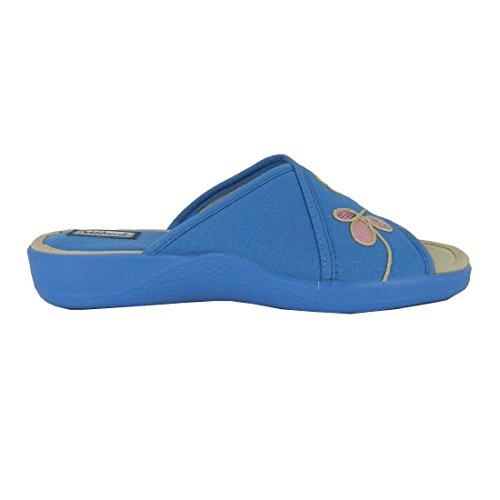 Zapatillas de estar en casa DEVALVERDE modelo 162 (Aguamar)