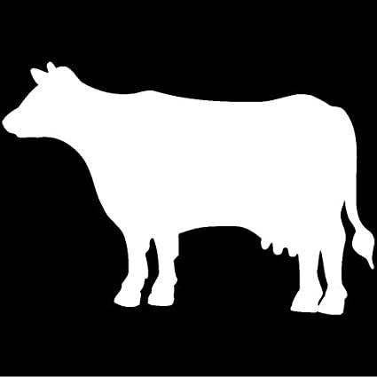 Amazon Com Milk Cow Decal Sticker White Peel And Stick Graphic