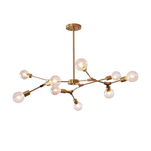Modo Lighting Modern Sputnik Chandelier Light 9 Lights Gold Ceiling Mid Century Pendant Light for Kitchen Living Room…