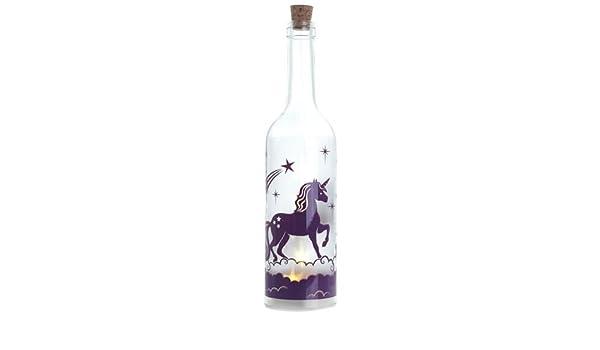 Desconocido Botella de Unicornio Blanco con Luces LED: Amazon.es ...
