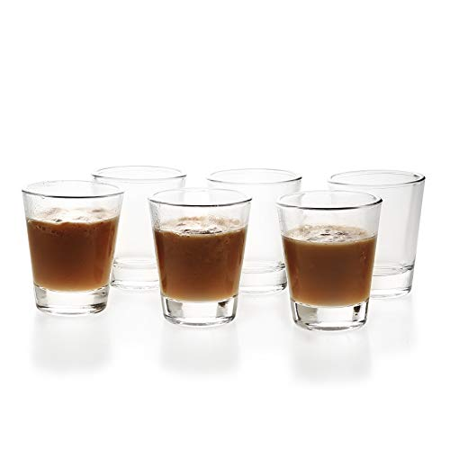 (1.5 oz Shot Glasses with Heavy Base Clear Round Glass (6 Pack) )