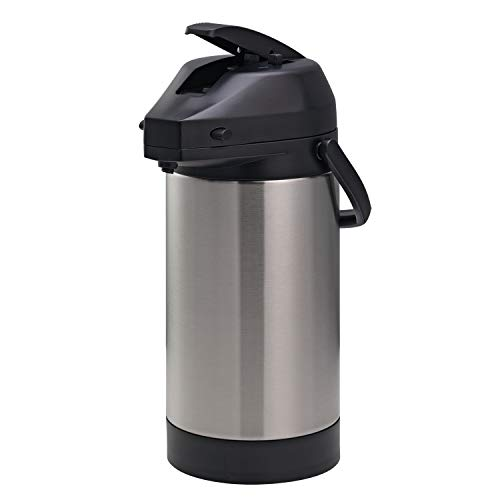 Economy Airpot - Service Ideas SVAP30L Economy Airpot with Lever, Stainless Vacuum, NSF Listed, 3 L, Brushed