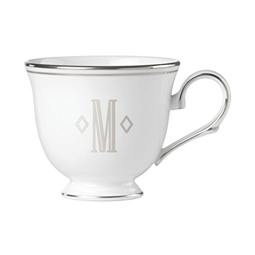 - Lenox Federal Platinum Block Monogram Dinnerware Teacup, M